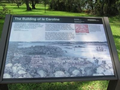 The Building of la Caroline Marker image. Click for full size.