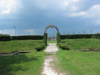 Entrance to Fort Caroline image. Click for full size.
