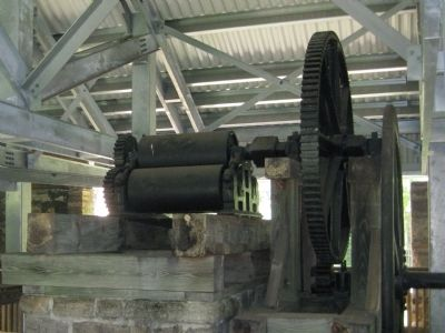 The Engine Room at Dunlawton: Cane Crusher image. Click for full size.