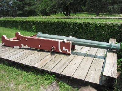 Reproduction Cannon at Fort Caroline image. Click for full size.