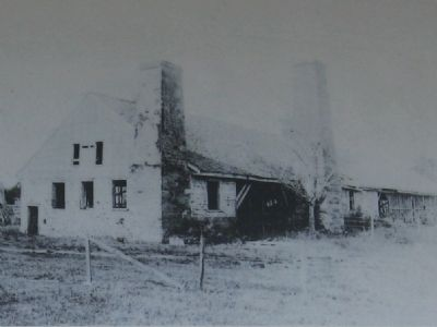 Marker close-up: Early photo showing roof structure image. Click for full size.