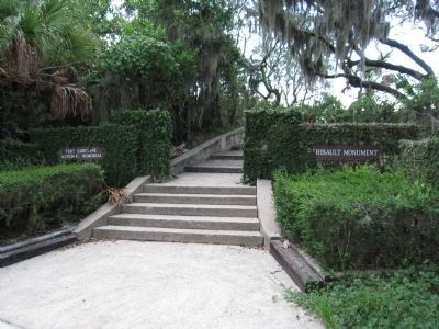 Entrance to the Ribault Memorial image. Click for full size.