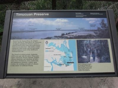 Timucuan Preserve Marker image. Click for full size.