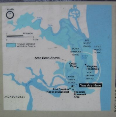 Map of the Timucuan Preserve image. Click for full size.