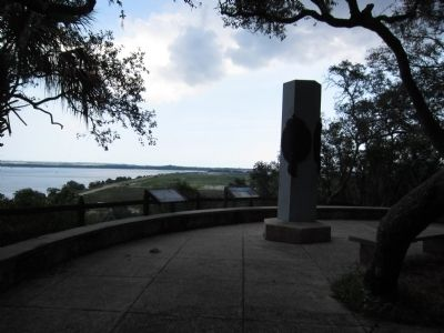 Ribault Memorial and Markers image. Click for full size.