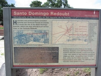 Santo Domingo Redoubt Marker image. Click for full size.