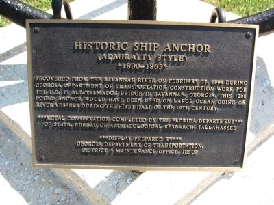 Historic Ship Anchor Marker image. Click for full size.