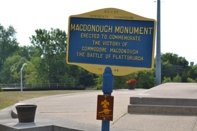 MacDonough Monument Marker image. Click for full size.