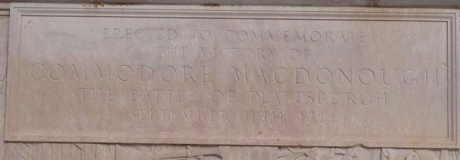 MacDonough Monument's Inscription image. Click for full size.
