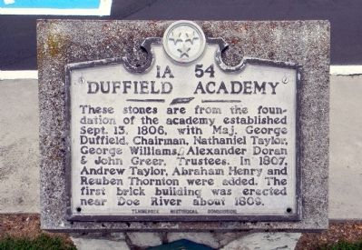 Duffield Academy Marker image. Click for full size.