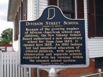 Side 'One' - - Division Street School Marker image. Click for full size.