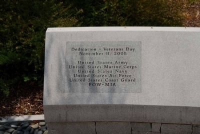 South Carolina Veterans Memorial<br>South Bench Inscription image. Click for full size.