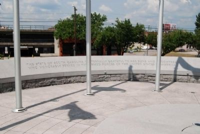 South Carolina Veterans Memorial<br>Assembly Street Inscription image. Click for full size.