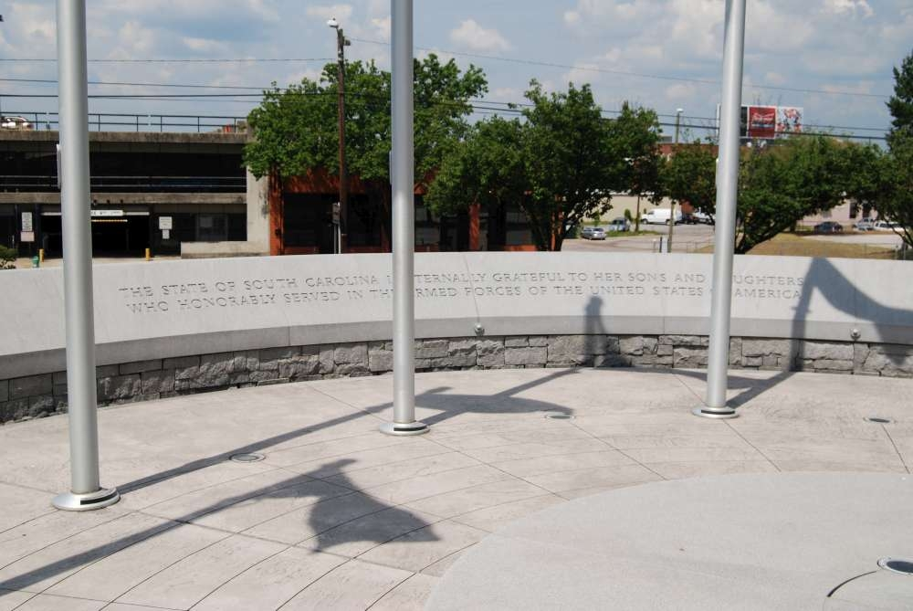 South Carolina Veterans Memorial<br>Assembly Street Inscription