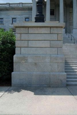 The State House of South Carolina Marker<br>Left Inscription image. Click for full size.