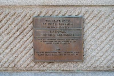 The State House of South Carolina Marker<br>National Historic Landmark Plaque image. Click for full size.