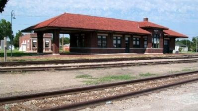 Missouri Pacific Railroad Depot at Downs image. Click for full size.