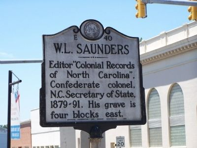 W.L. Saunders Marker image. Click for full size.