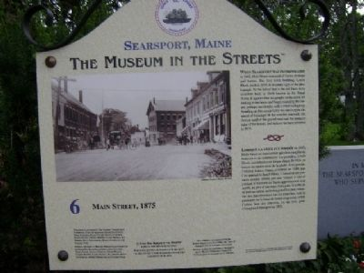 Main Street, 1875 Marker image. Click for full size.