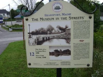 The Site of a Lumber Mill 1890 Marker image. Click for full size.