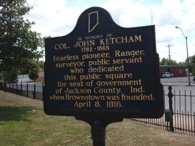 Side 'One' - - In Memory of Col. John Ketcham / Marker image. Click for full size.