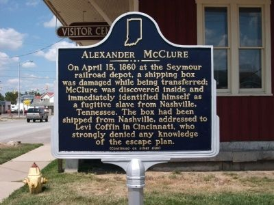 Side 'One' - - Alexander McClure Marker image. Click for full size.