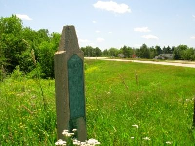 Green Bay Road Marker image. Click for full size.