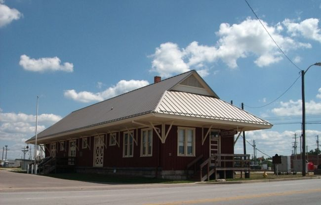 "'Old Seymour Depot' - - NOW ""Jackson County Visitor's Center"" image. Click for full size."