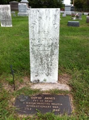 David Janes Grave Markers image. Click for full size.