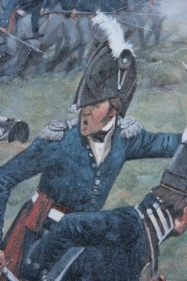 Image of Gen. Andrew Jackson giving the command to charge. image. Click for full size.