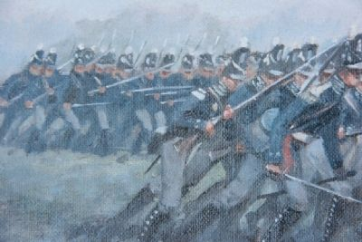 Jackson's Army Charging the barricade image. Click for full size.