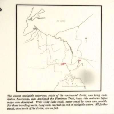 Flambeau Trail – Continental Divide Marker image. Click for full size.