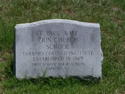 St. Paul A.M.E. Zion Church Marker site image. Click for full size.