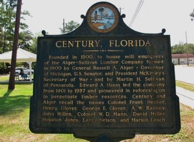 Century, Florida Marker image. Click for full size.