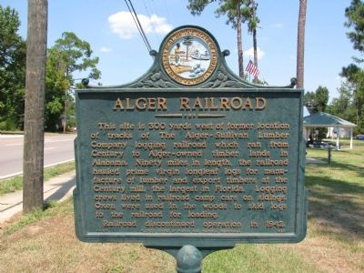 Alger Railroad Marker image. Click for full size.