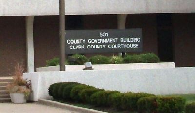 Sign - - Clark County Courthouse image. Click for full size.