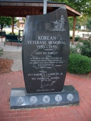 Korean Veterans Memorial Marker image. Click for full size.