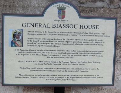General Biassou House Marker image. Click for full size.