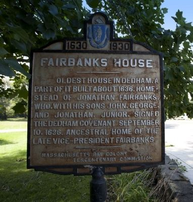 Fairbanks House Marker image. Click for full size.