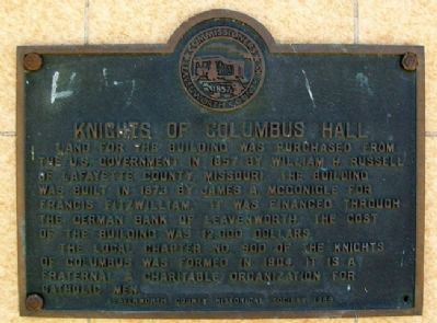 Knights of Columbus Hall Marker image. Click for full size.