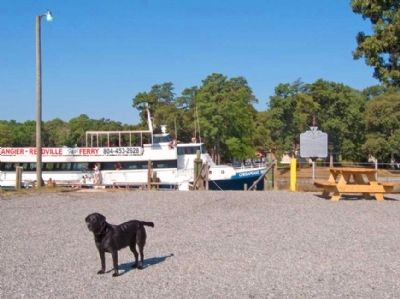 Marker is at Dock for Tangier Island Ferry image. Click for full size.