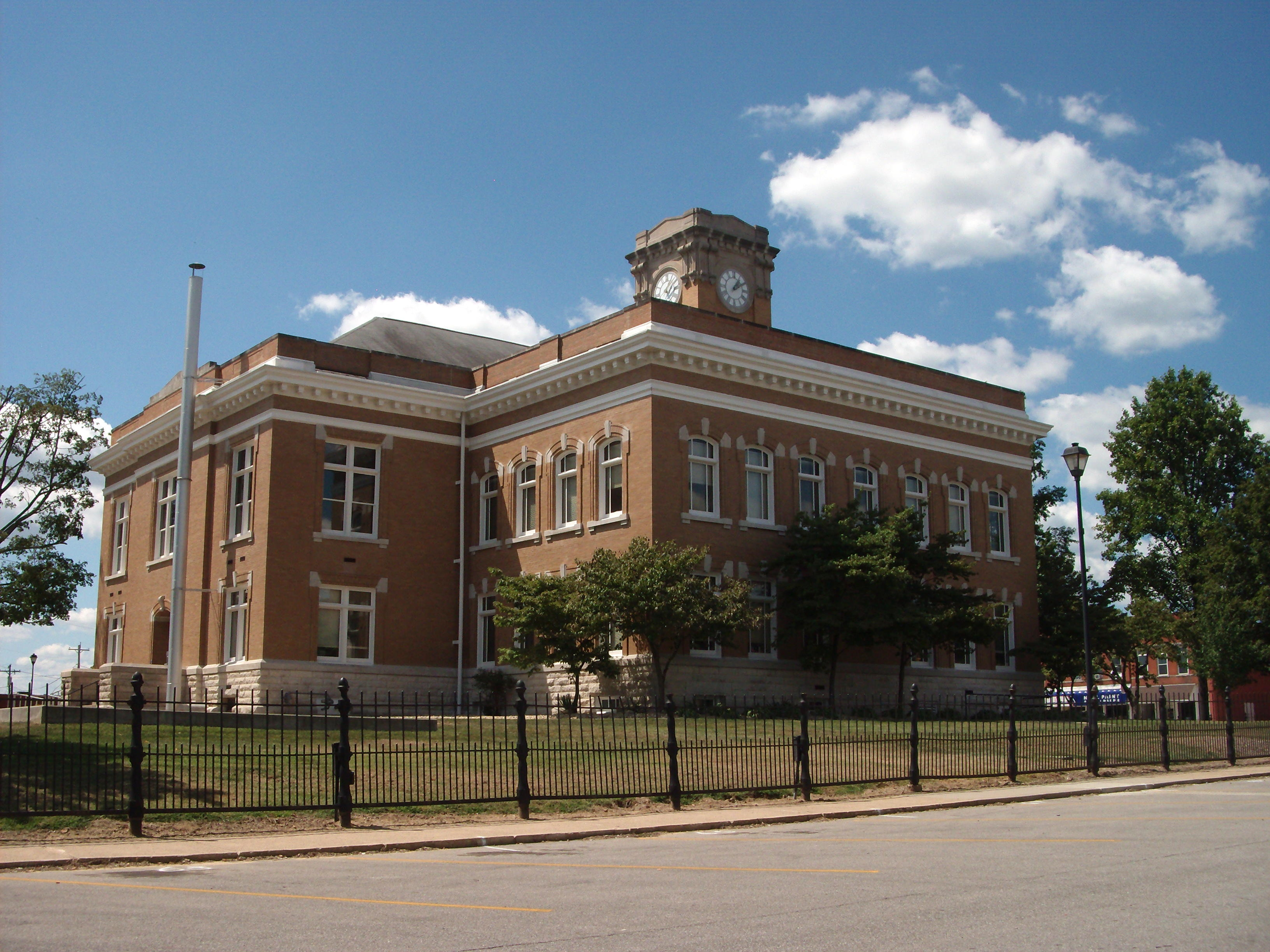 North/East Corner - - Jackson County Courthouse - - Brownstown, Indiana