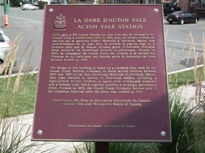 Acton Vale Station Marker image. Click for full size.