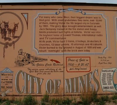 Welcome to Victor Colorado Marker, part #2 image. Click for full size.