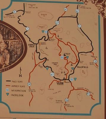 Map detail from the Victor Colorado Marker image. Click for full size.