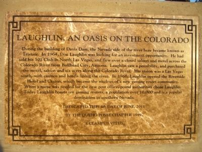 Laughlin, an Oasis on the Colorado Marker image. Click for full size.