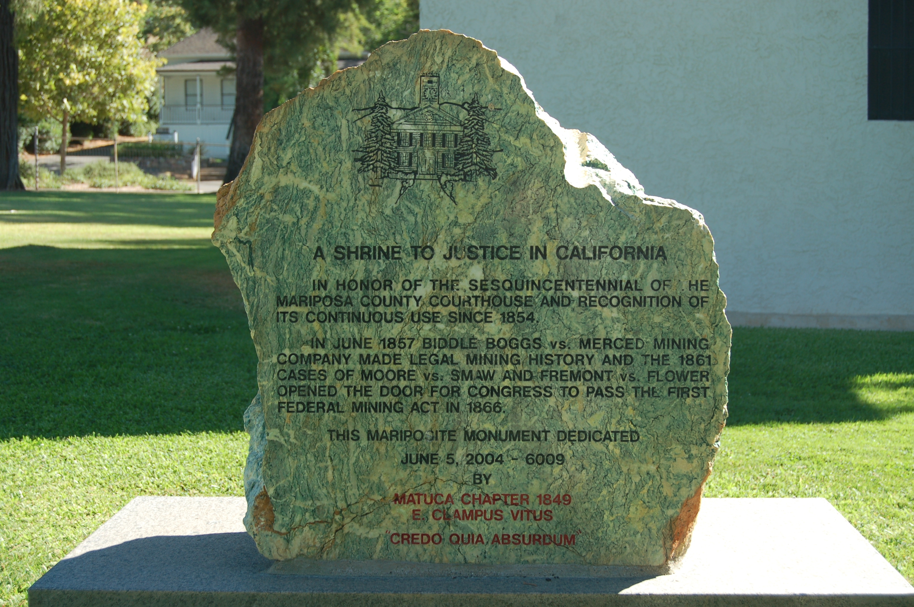 A Shrine to Justice in California Marker