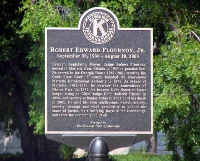 Robert Edward Flournoy, Jr. Marker image. Click for full size.