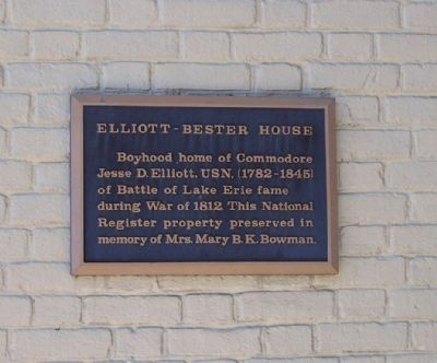 Elliott-Bester House Marker image. Click for full size.