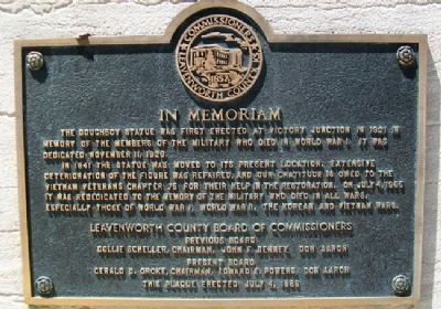 Leavenworth County War Memorial Marker image. Click for full size.